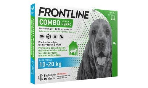 Frontline combo perros 10-20kg 3pipetas