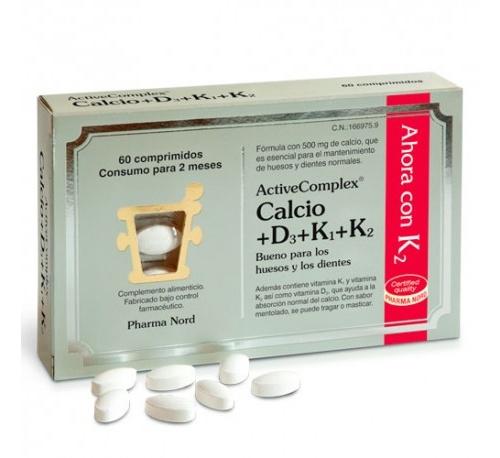Activecomplex calcio+d3+k (60 comprimidos)