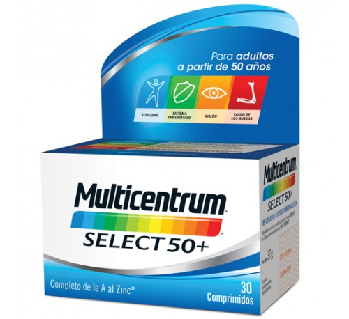 Multicentrum select 50+ (30 comprimidos)