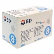 Aguja para plumas esteril - bd (31 g (0.25 mm x 8 mm) 100 u/caja)