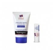 Neutrogena crema de manos concentrada + - locion corporal + neutrogena labios spf 20 (kit)