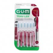 Cepillo interdental viaje - gum 1612 trav-ler (cilindrico 1.4 mm 6 u)