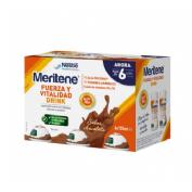 Meritene fuerza y vitalidad drink (pack chocolate 6 u x 125 ml)