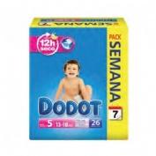Pañal infantil - dodot (t- 5 13- 18 kg 26 u)