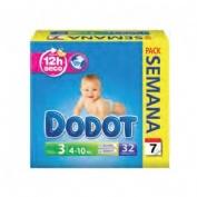 Pañal infantil - dodot (t- 3 04-10 kg 32 u)